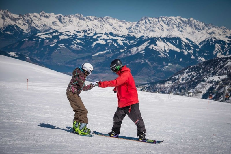Aulas de ski ou snow
