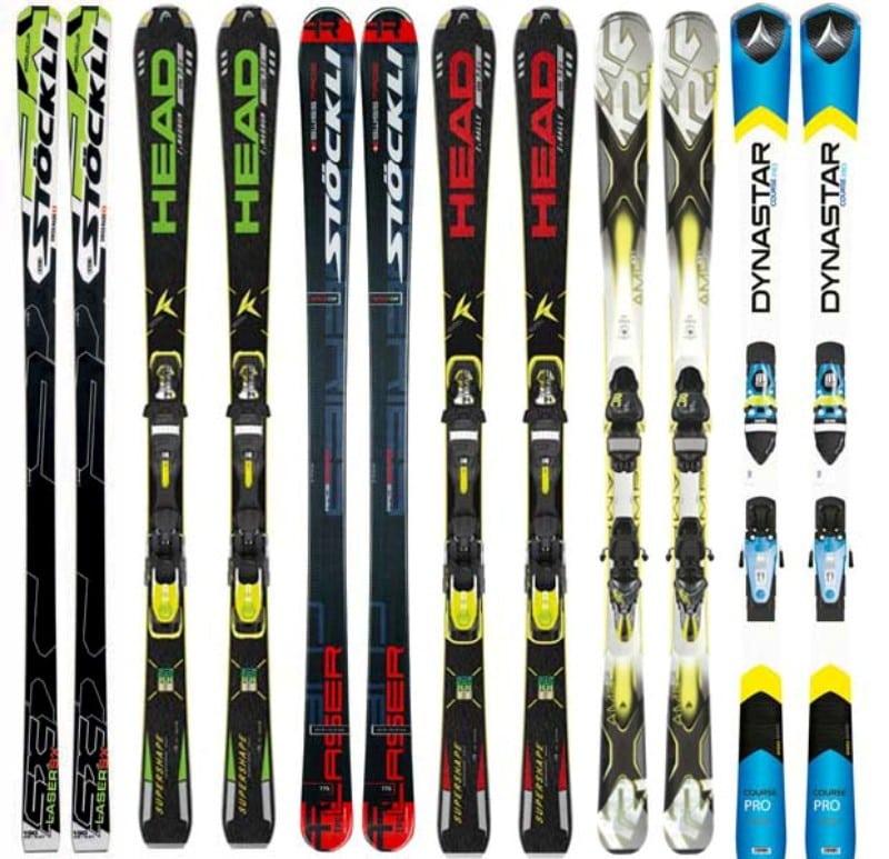 Equipamentos de Ski diferentes marcas