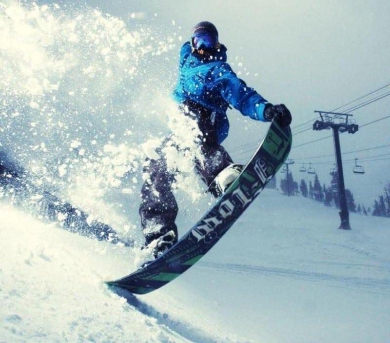 Manobra snowboard