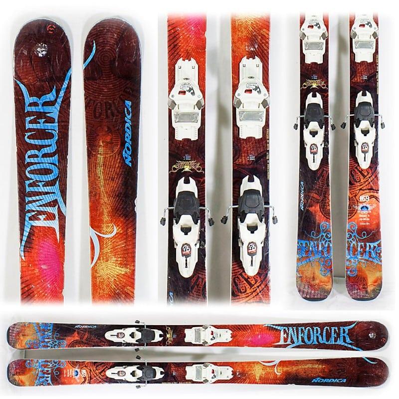 Variedade de quipamentos de ski