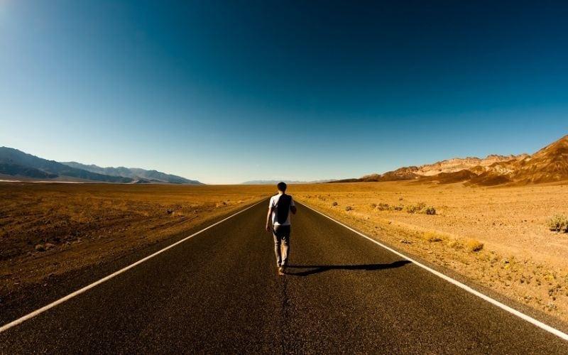 Viajante na estrada