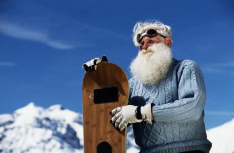 vovô snowboard