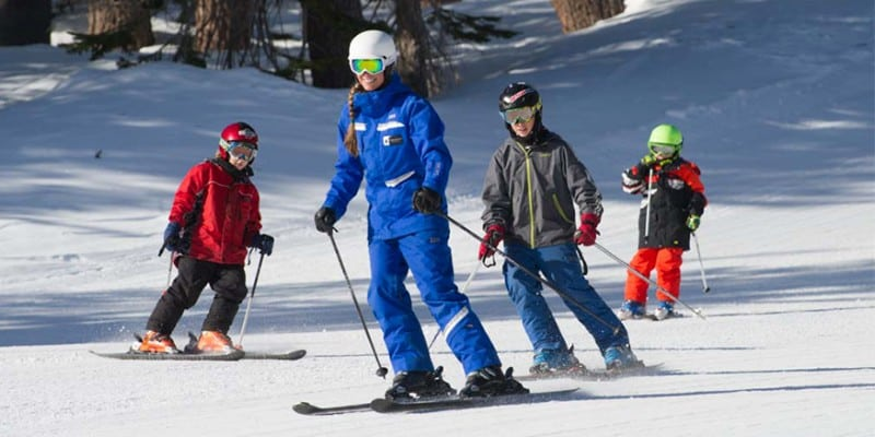 Aula de ski