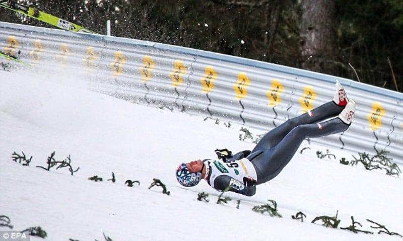 Manobra campeonato de ski