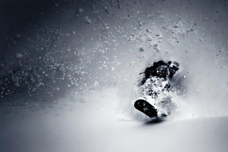 Manobra em neve powder