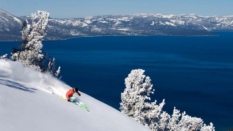Esquiador em Heavenly
