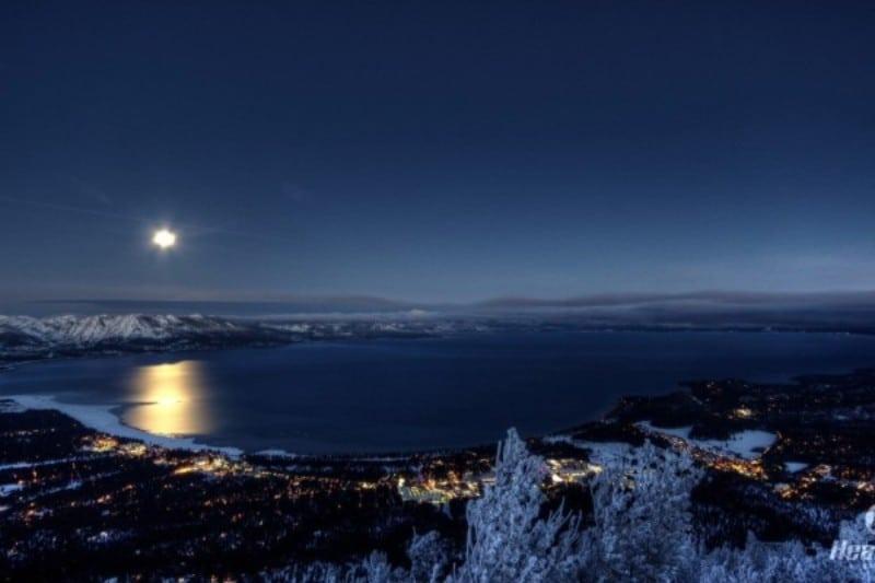 Lake Tahoe e Lua