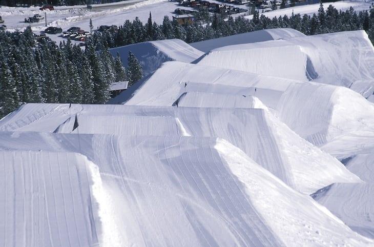 Scenic Winter View Breckenridge Terrain Park