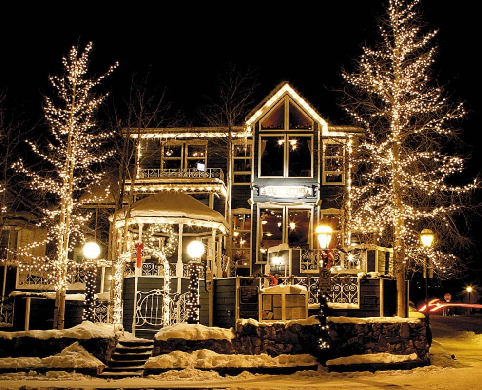 The Hearthstone Restaurant lights up Breckenridge at 130 Ridge Street.