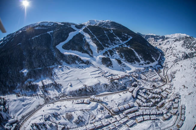 Vista Aérea Pistas Andorra - Grandvalira
