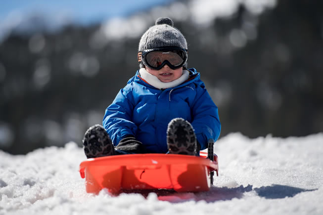 Bebê na Neve em Andorra - Grandvalira