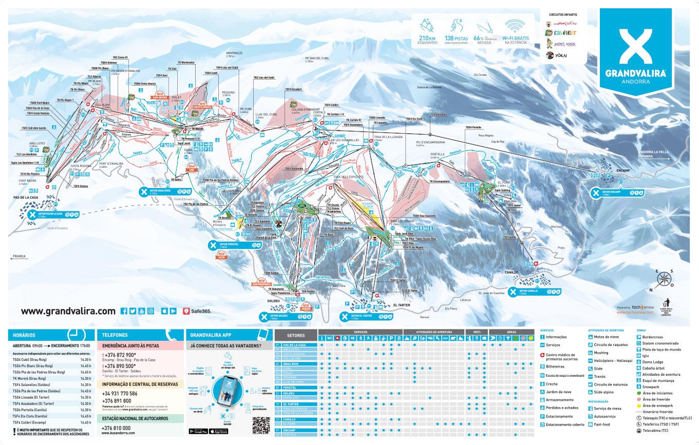 Mapa Ski Grandvalira