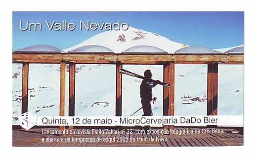 Anuncio lançamento da Revista Estilo Zaffarimaio de 2005