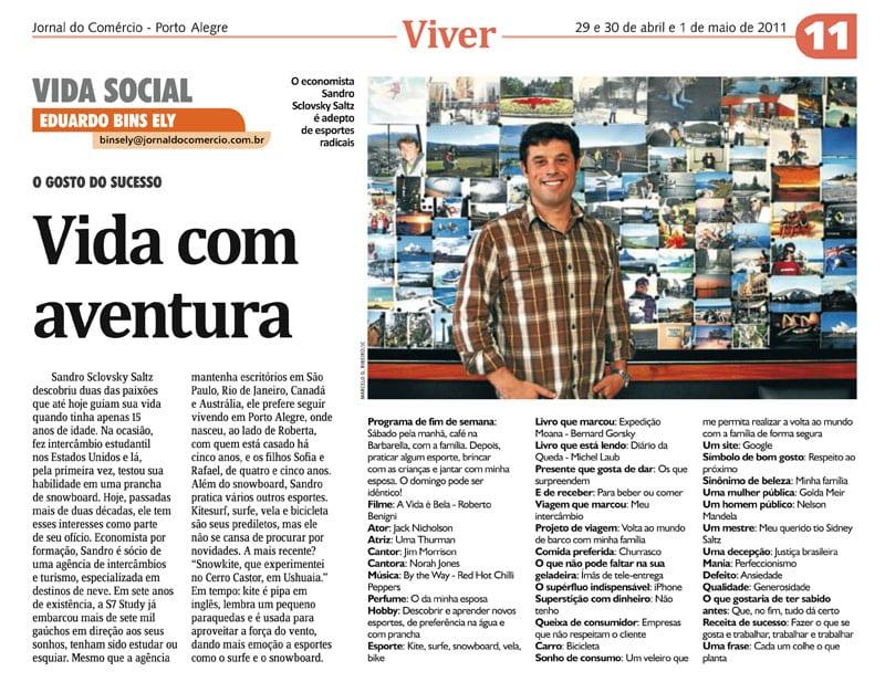 Entrevista de Sandro Saltz pro Jornal do Comércio – abril/2011