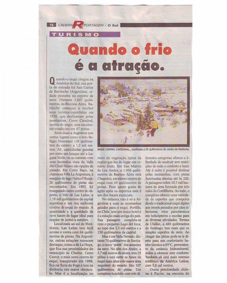 Reportagem jornal O Sul – Caderno Reportagem – junho de 2005