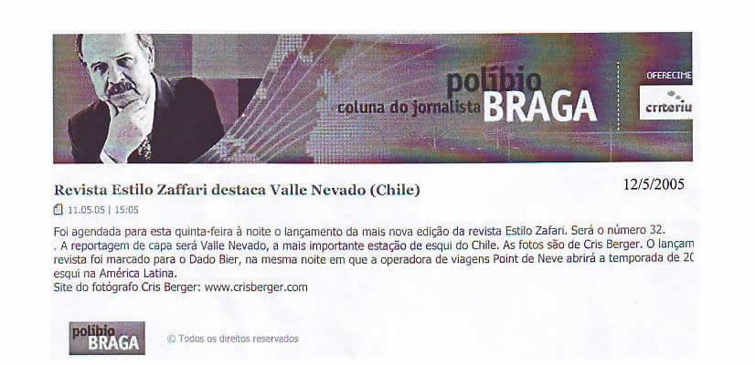 Nota site de Políbio Braga – maio de 2005