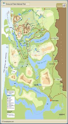 Mapa de Torres del Paine